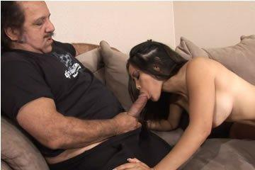 Young asian girl on older guy's cock